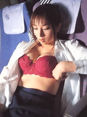 In a cute little nurse costume and lingerie this babe is gorgeous